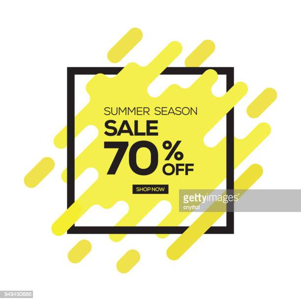 summer sale banner - consumerism stock illustrations