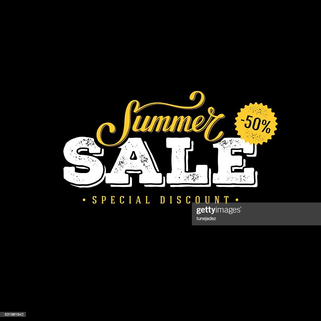 Summer sale black and yellow