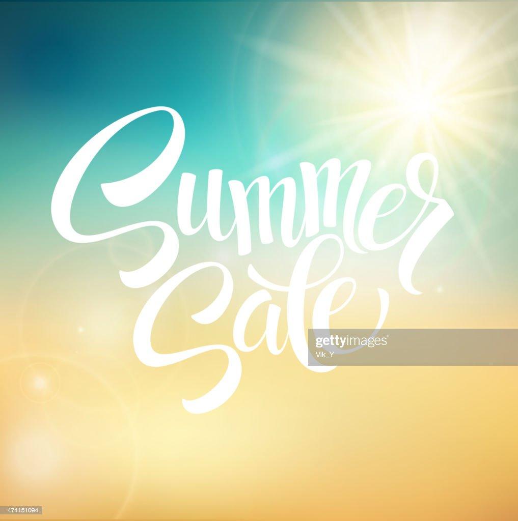 Summer Sale, blurred background. Vector illustration