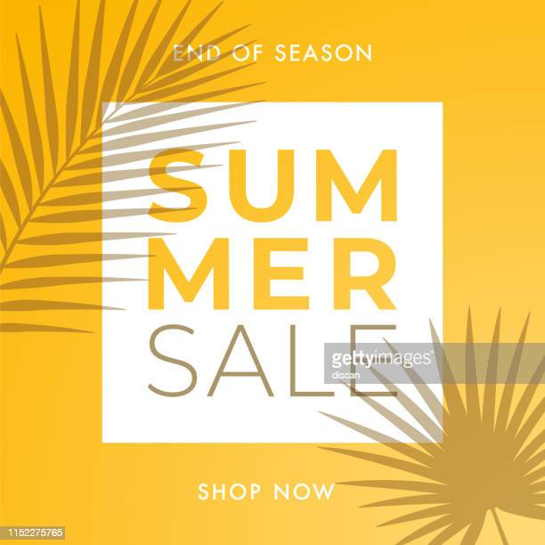 illustrazioni stock, clip art, cartoni animati e icone di tendenza di summer sale design for advertising, banners, leaflets and flyers. - summer