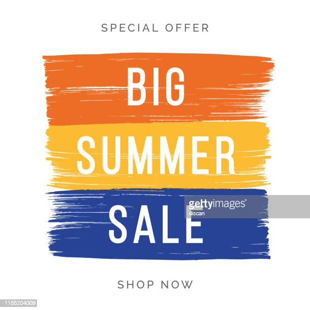 summer sale design for advertising, banners, leaflets and flyers. - summer stock illustrations