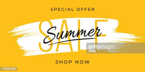 sommer-verkauf-design für werbung, banner, flugblätter und flyer. - ausverkauf stock-grafiken, -clipart, -cartoons und -symbole