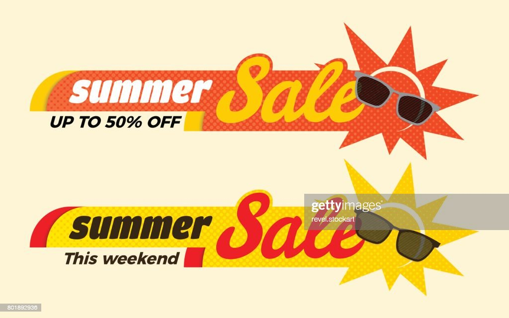 Summer Sale label price tag banner badge template sticker design