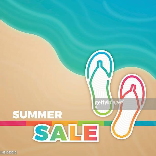 summer sale sandals background - latin music stock illustrations, clip art, cartoons, & icons