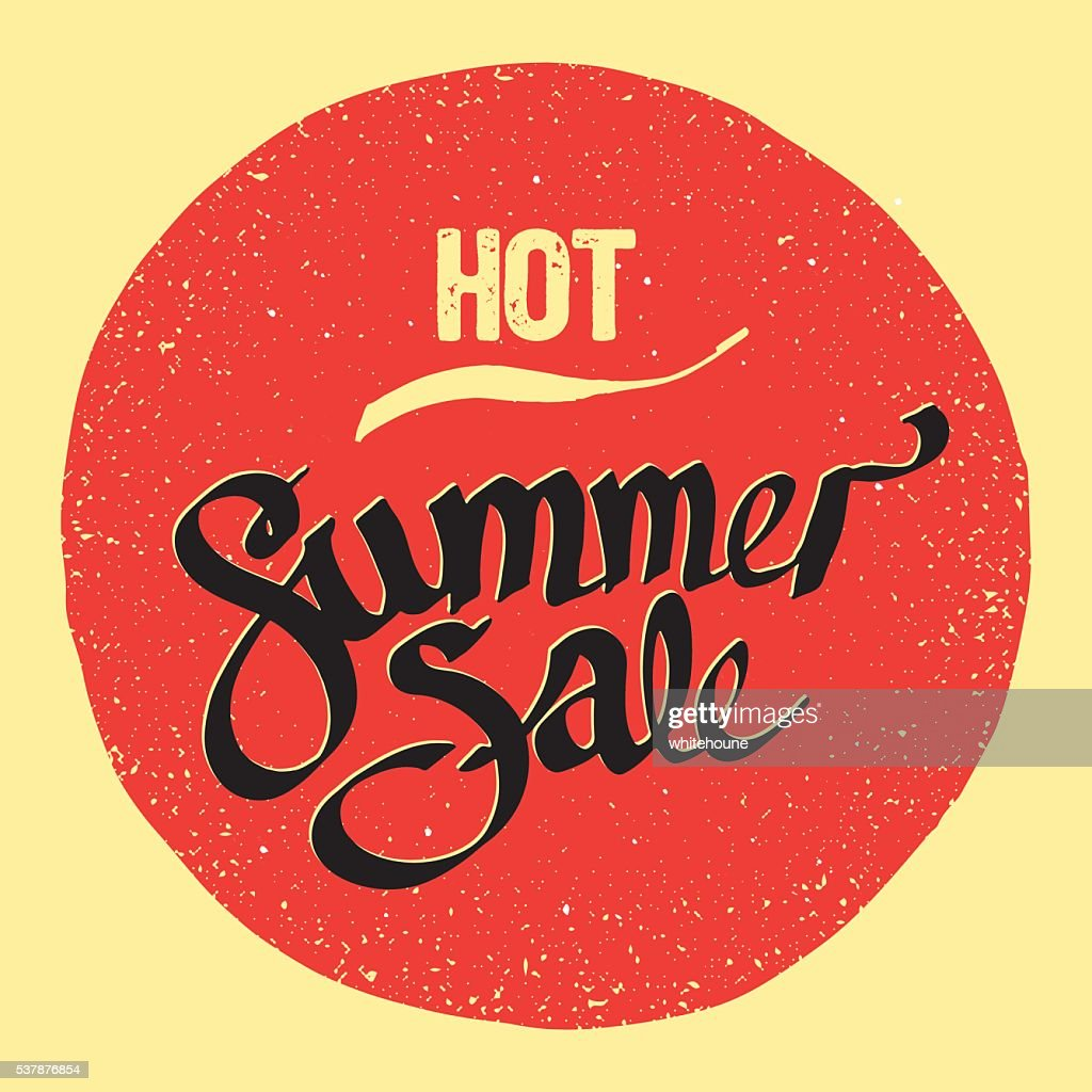 summer sale sign vector art getty images