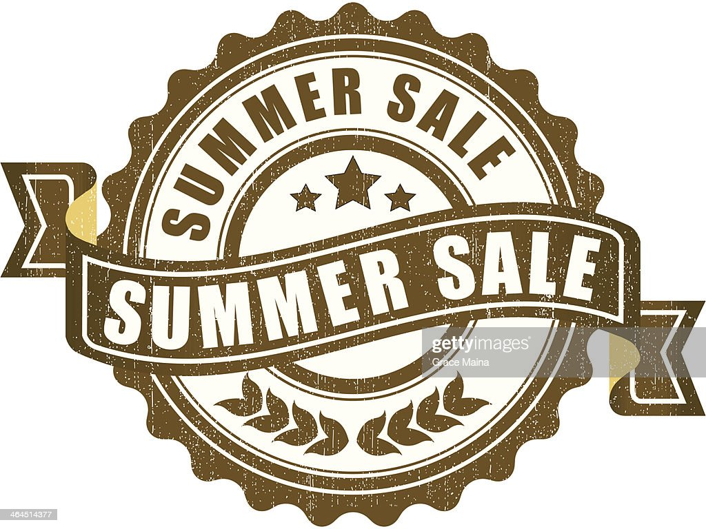summer sale sign vector vector art getty images