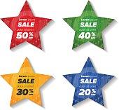 Summer sale star stickers
