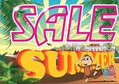 Summer Sale. Summer Sale Banner