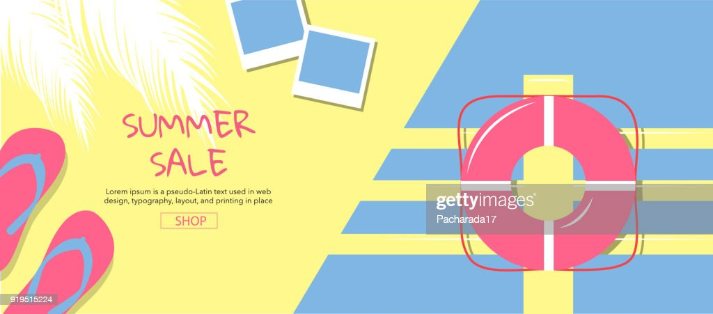 summer ,sale, template design , vector illustration.