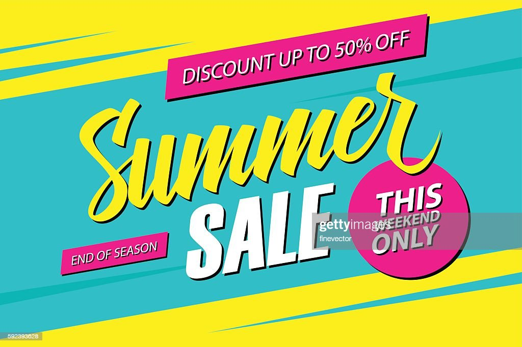Summer Sale. This weekend special offer banner.