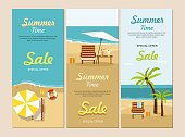 Summer Sale Web banners Vacation and Tourism