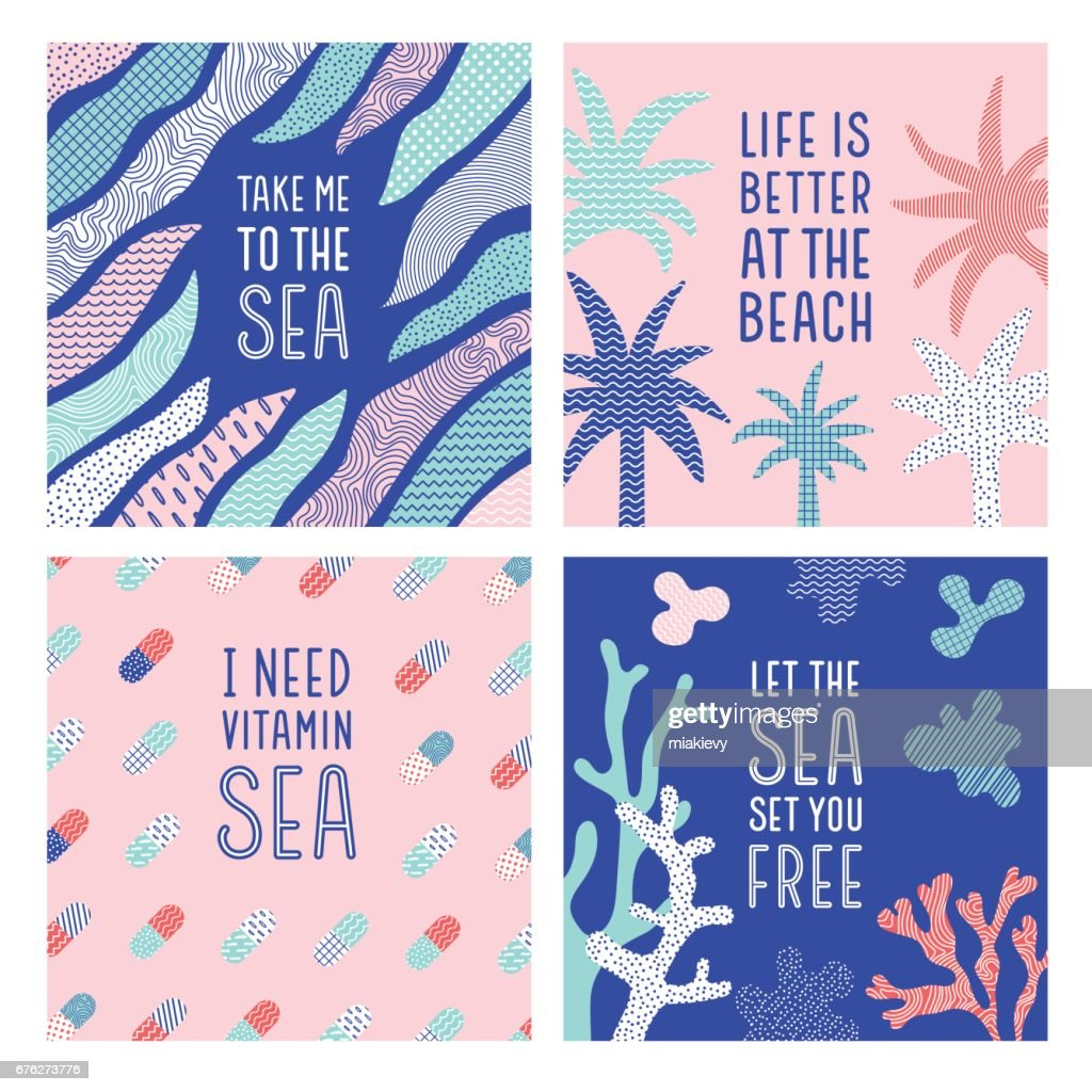 Summer Sea Quotes Vector Art Getty Images
