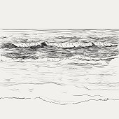 Summer seascape sketch