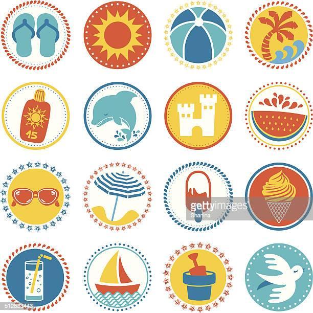 Summer Season - Circle Icons