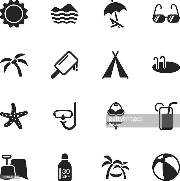 Summer Season Silhouette Icons
