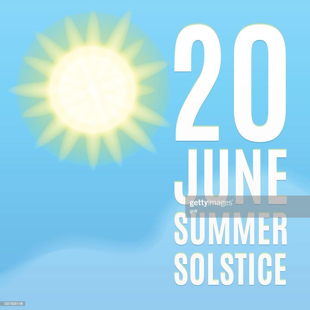 Summer solstice background.