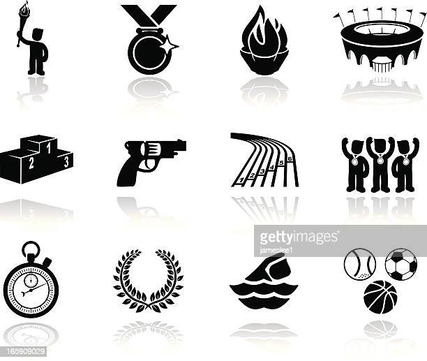 summer sports icons - sport torch stock illustrations, clip art, cartoons, & icons