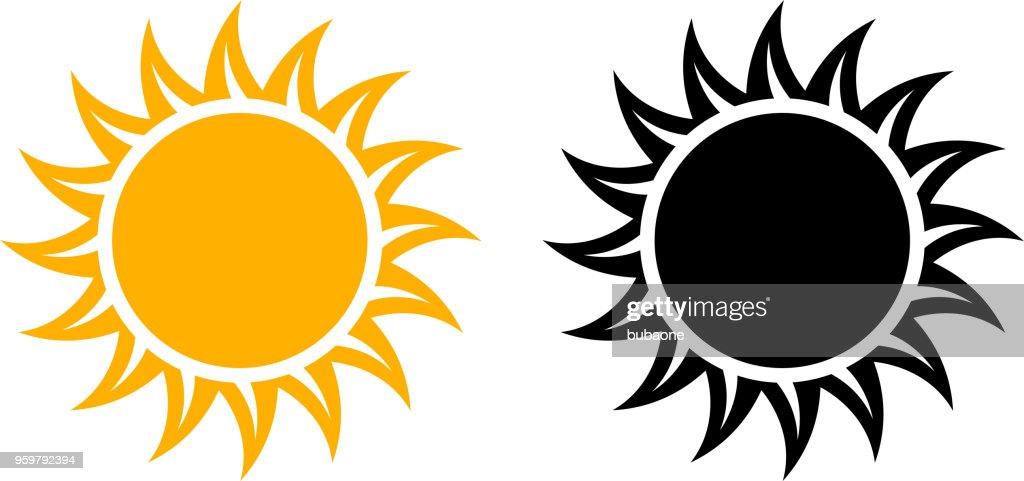 Sommer-Sonnen-Symbol festlegen Vektorgrafik : Stock-Illustration