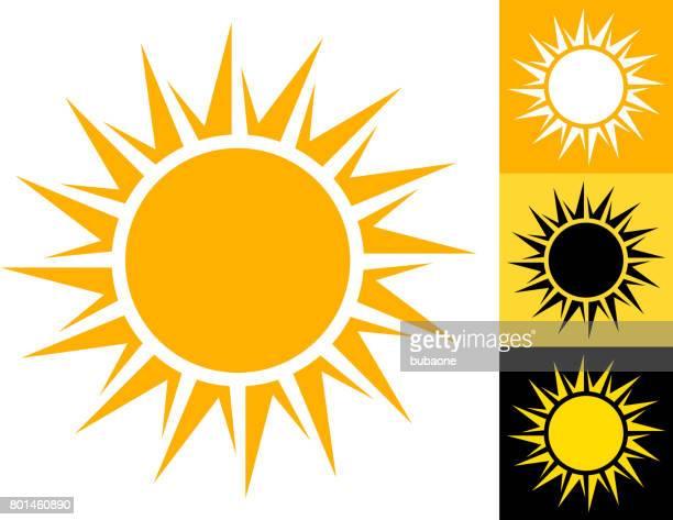 ilustraciones, imágenes clip art, dibujos animados e iconos de stock de sol de verano vector icono en amarillo - amarillo color