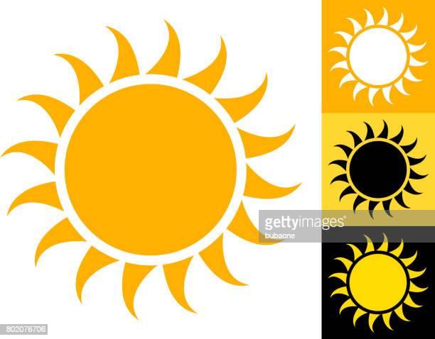 sommersonne vektor icon gelb - corona sun stock-grafiken, -clipart, -cartoons und -symbole