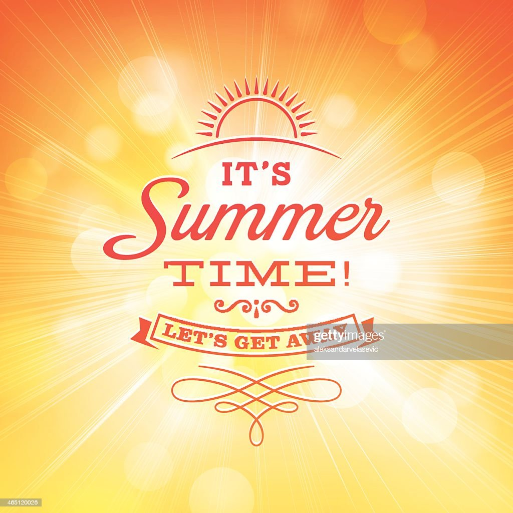 Summer Sunlight Burst Background