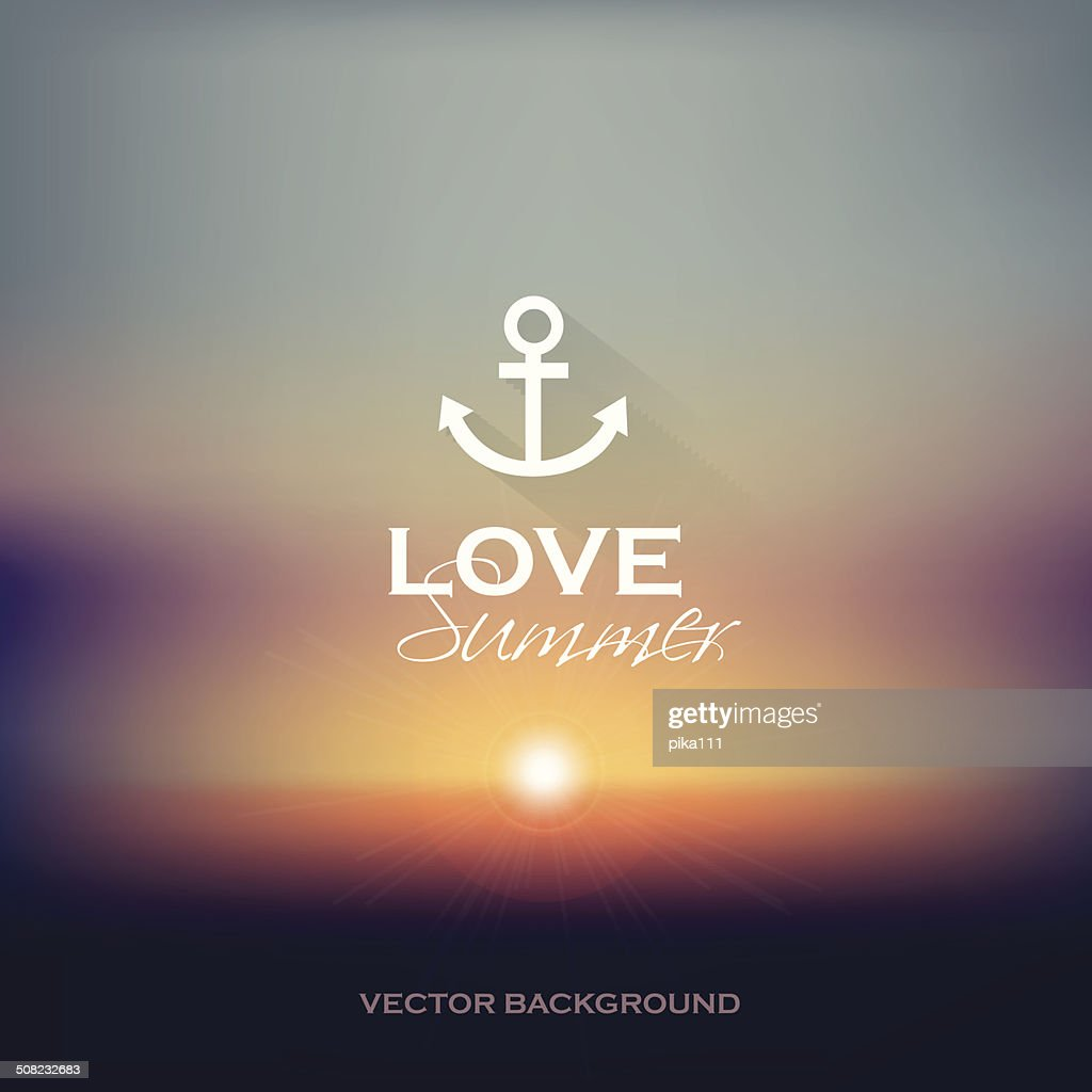 summer sunset blurry background vector illustration