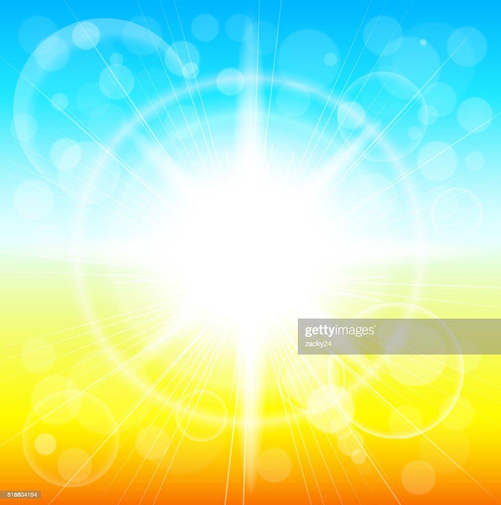 Summer sunshine background