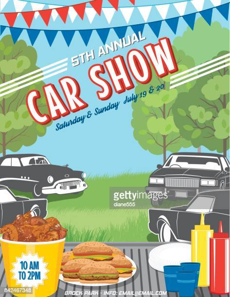 Summer Tailgate Party At A Car Show