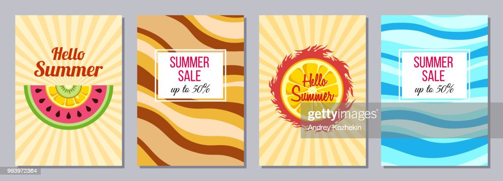 Summer theme templates A6 size.