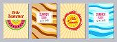 Summer theme templates A6 size.
