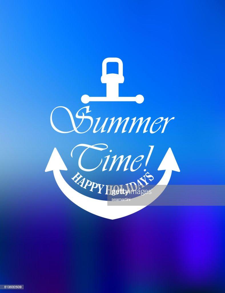 Summer time poster design