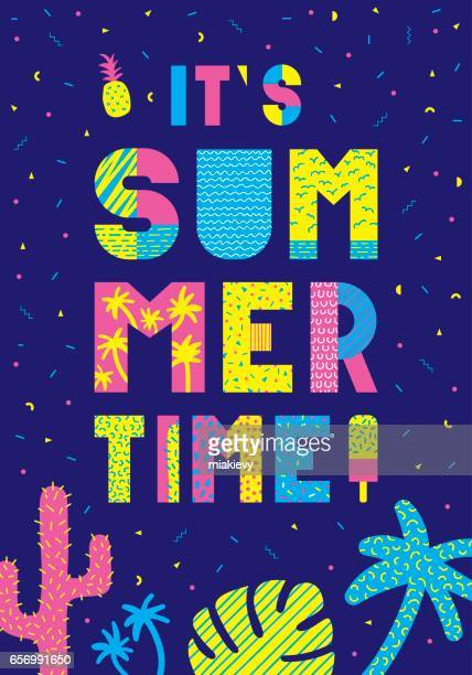 Summer time typography poster