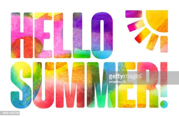 summer time - summer stock illustrations