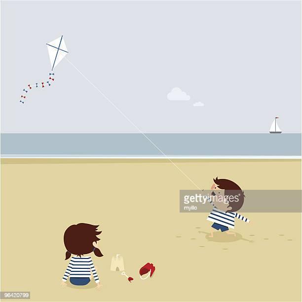ilustraciones, imágenes clip art, dibujos animados e iconos de stock de verano tiempo - salina estado natural de terreno