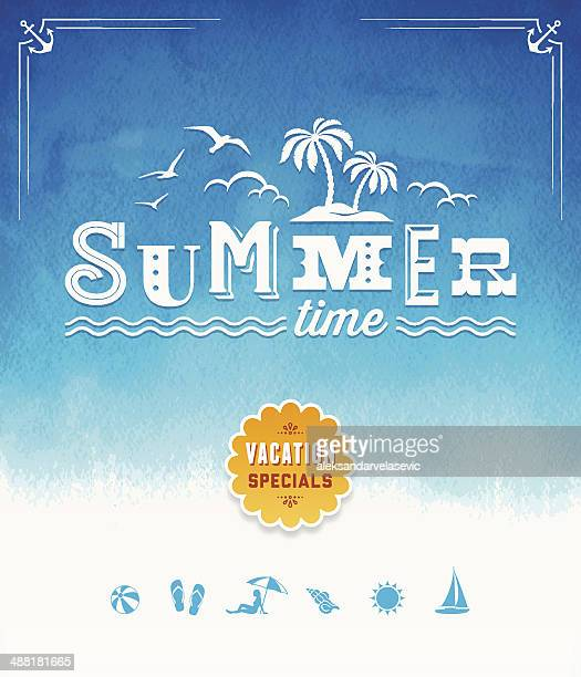 Summer Time Watercolor Background