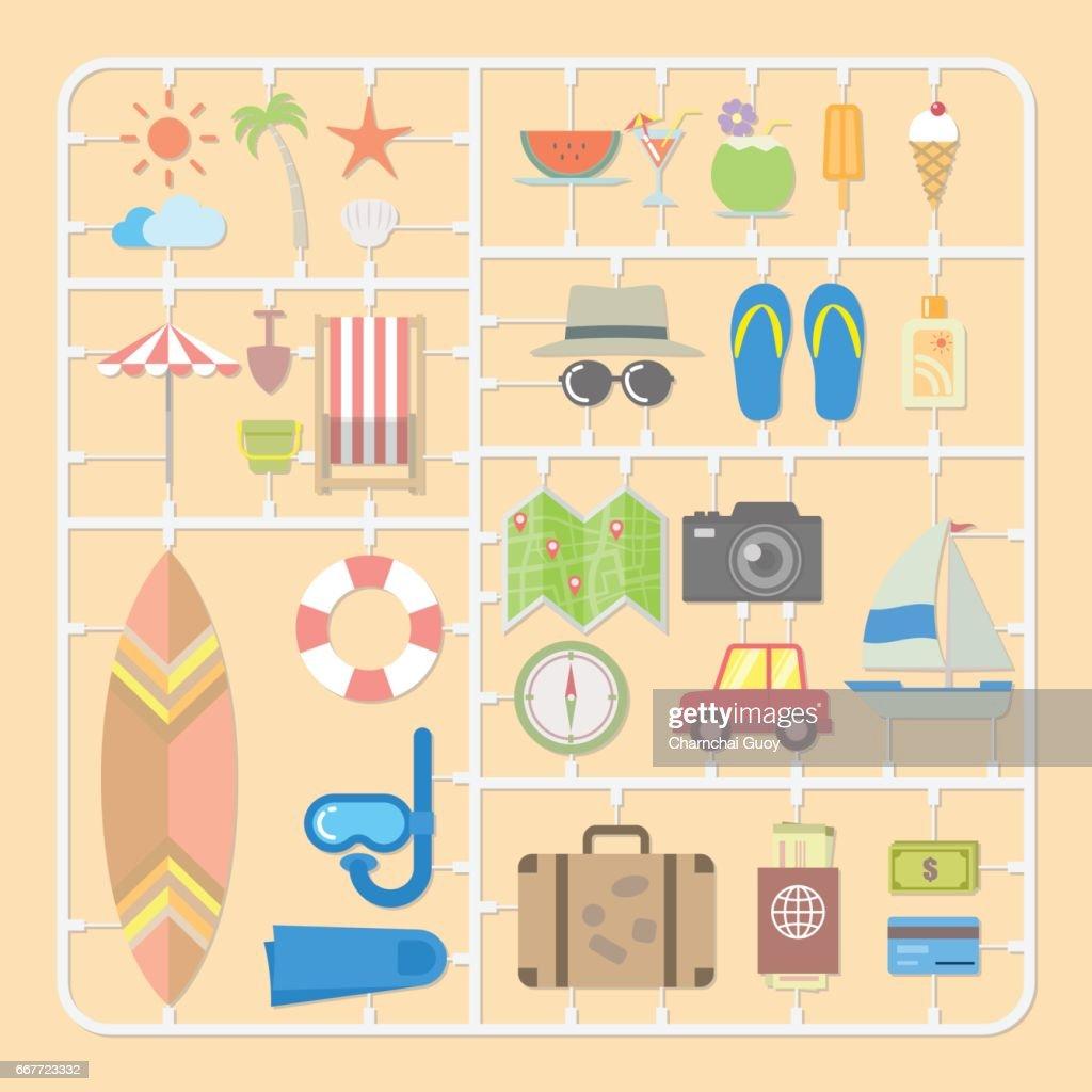 Summer tools model kits