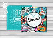 Summer tourism vector
