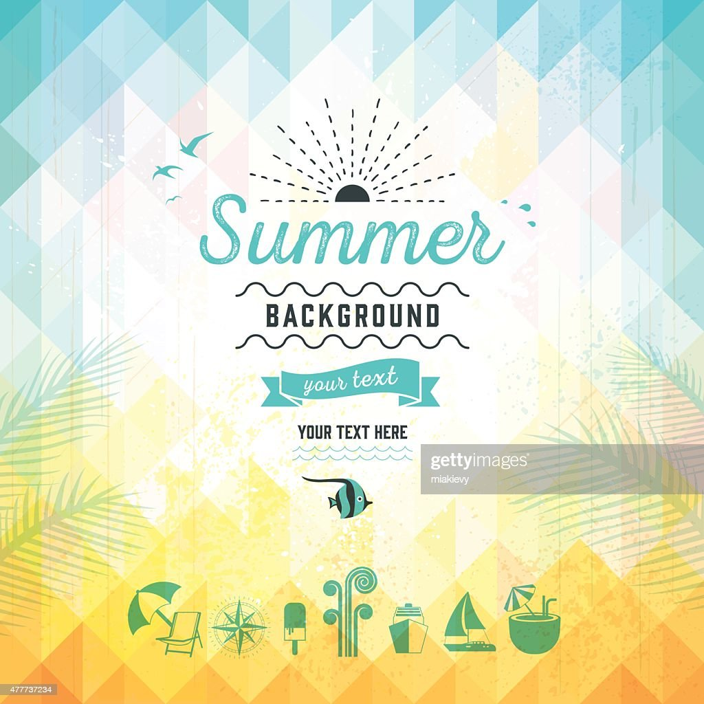 Summer triangle background : stock illustration