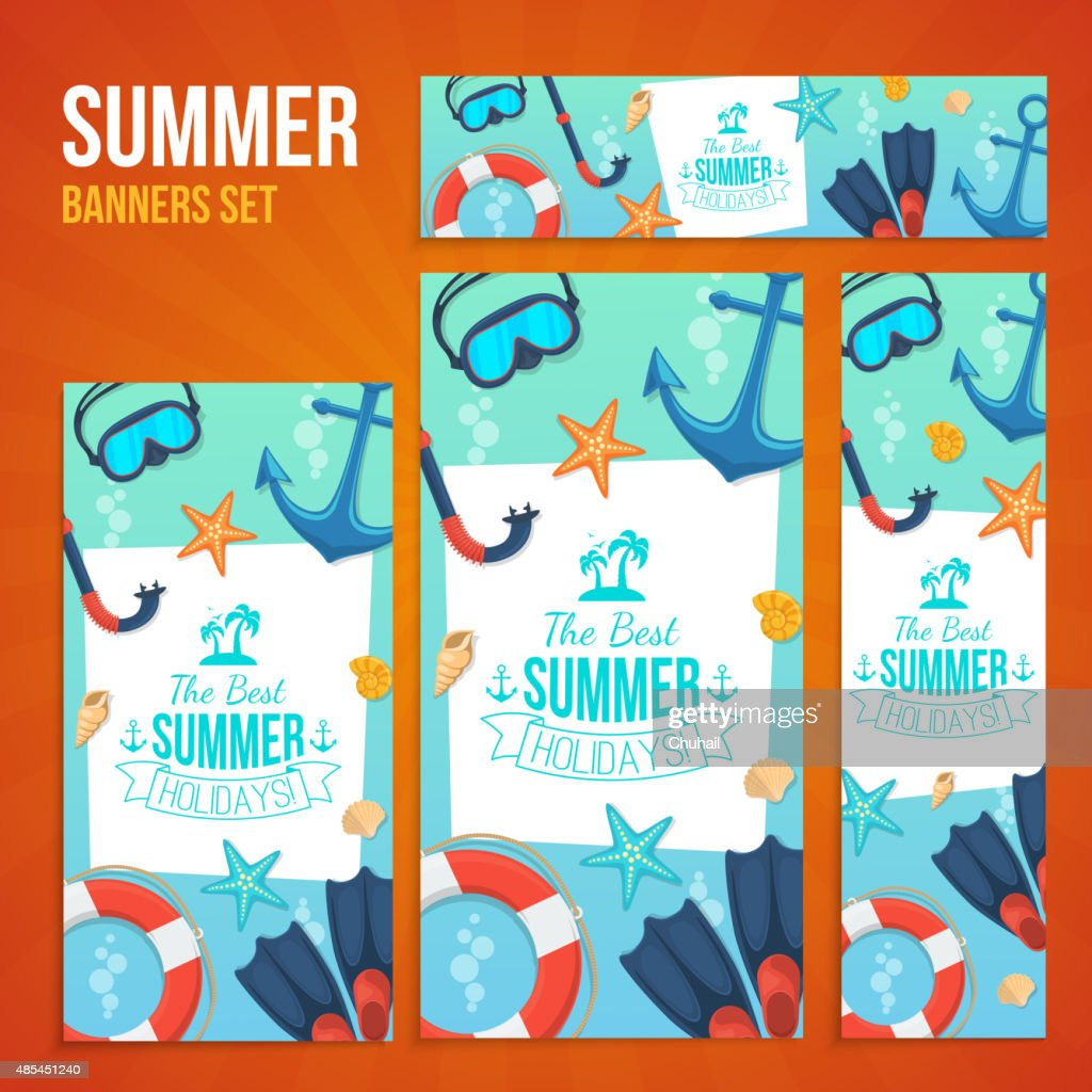 Summer tropic vacation backgrounds design.