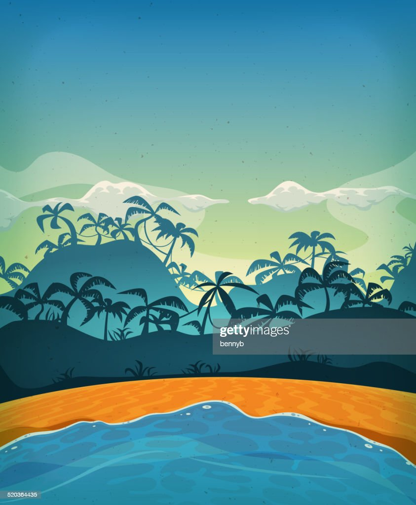 Summer Tropical Desert Island