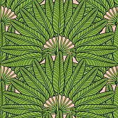 Summer tropical palm leafs pattern vector seamless