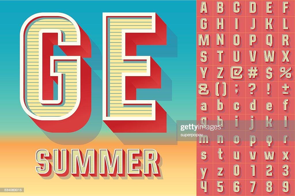 Summer typography design