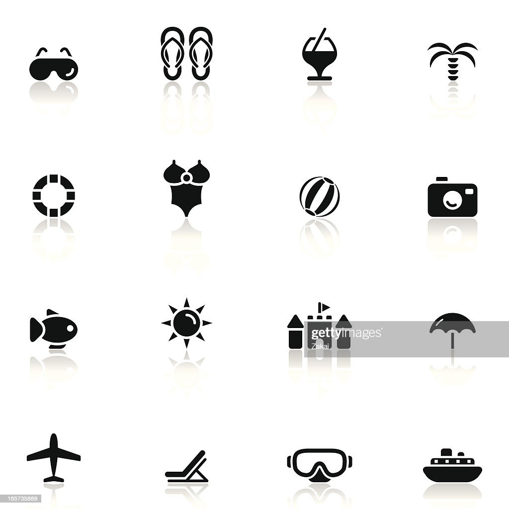 Summer Vacation and Travel Icon Set 3/3 | Simple Collection