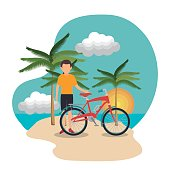 summer vacation holiday icon