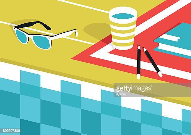 ilustraciones, imágenes clip art, dibujos animados e iconos de stock de summer vacations by the pool - pool party
