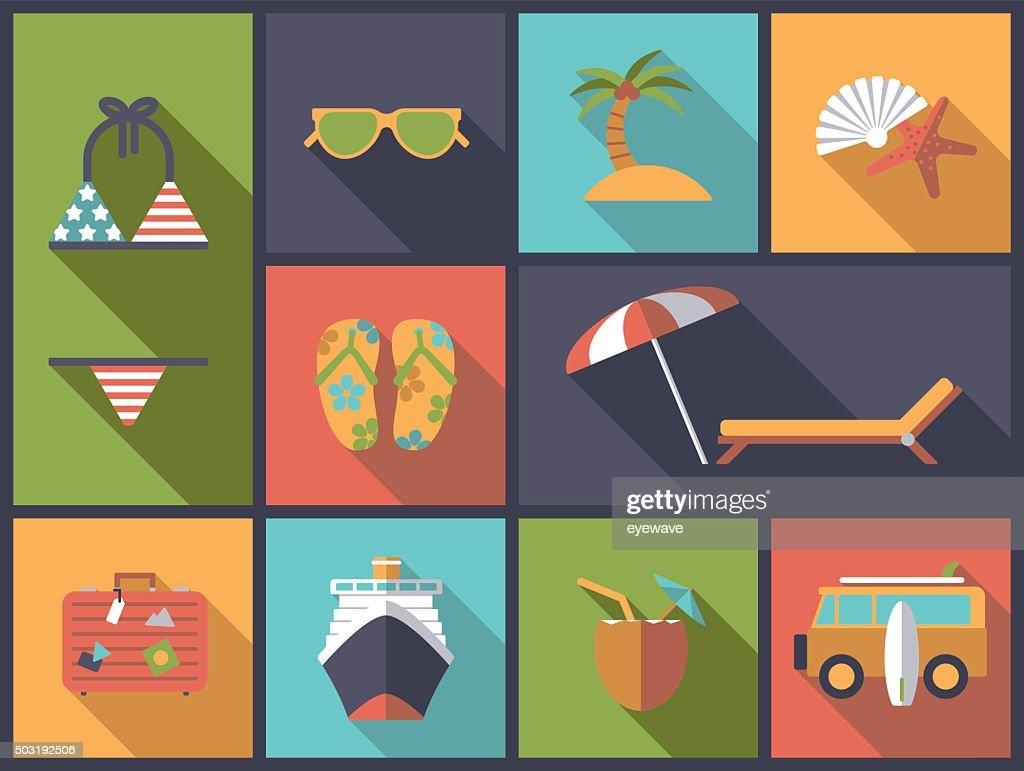Summer vacations vector illustration