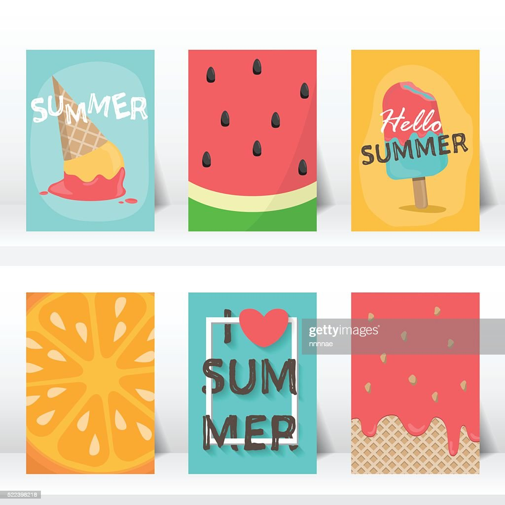 summer vaction time background. vector