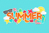 Summer vector background. Paper cut. Can used for banners,Wallpaper,flyers, invitation, posters, brochure.
