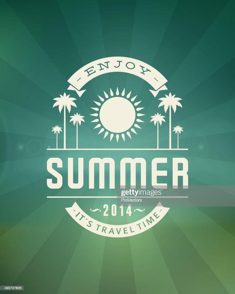 Summer vector typography