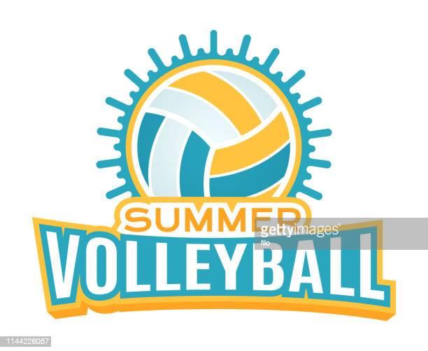 summer volleyball - volleyball ball stock illustrations